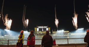 Legendary pyro shows at Green Bay Packers Football Game